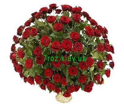 """""""Basket of 101 red roses"""" in the online flower shop 7roz.kiev.ua"""