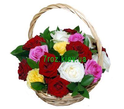 """""""Корзина из 17 роз"""" в интернет-магазине цветов 7roz.kiev.ua"""