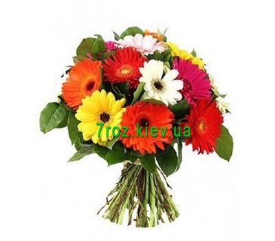"""Bouquet of 15 gerberas flowers"" in the online flower shop 7roz.kiev.ua"