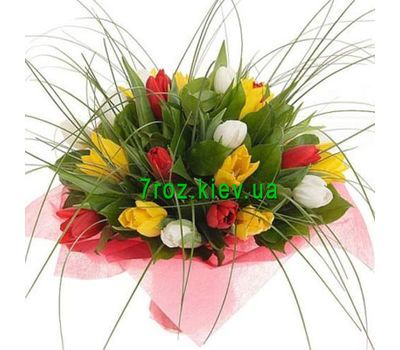 """Bouquet of flowers from 27 tulips"" in the online flower shop 7roz.kiev.ua"