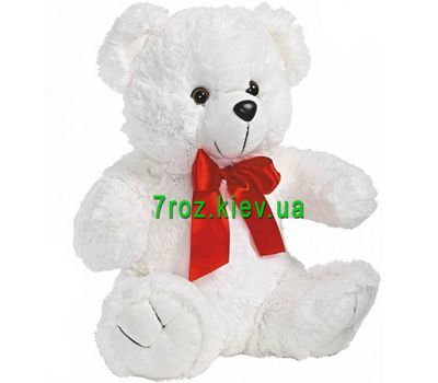 """Soft toy White Bear"" in the online flower shop 7roz.kiev.ua"