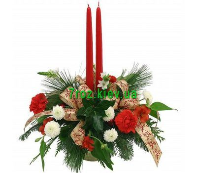 """Christmas composition with candles"" in the online flower shop 7roz.kiev.ua"