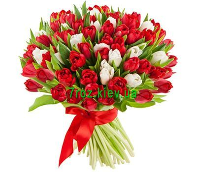 """Bouquet of 101 tulips"" in the online flower shop 7roz.kiev.ua"