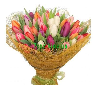 """Bouquet of 85 tulips"" in the online flower shop 7roz.kiev.ua"
