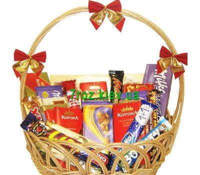 """Basket with chocolate"" in the online flower shop 7roz.kiev.ua"