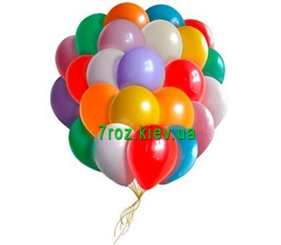 """25 multi-colored balloons"" in the online flower shop 7roz.kiev.ua"