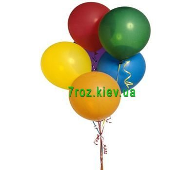 """7 multi-colored balloons"" in the online flower shop 7roz.kiev.ua"
