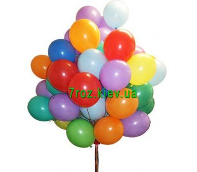 """50 multi-colored balloons"" in the online flower shop 7roz.kiev.ua"