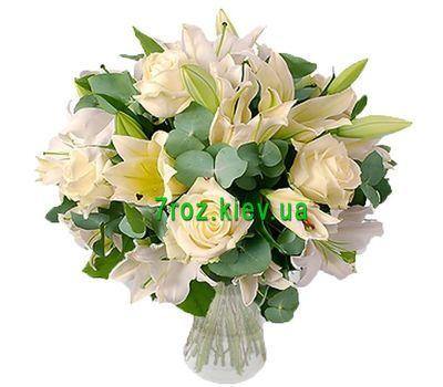 """""""Букет цветов из 5 роз и 2 лилий"""" в интернет-магазине цветов 7roz.kiev.ua"""