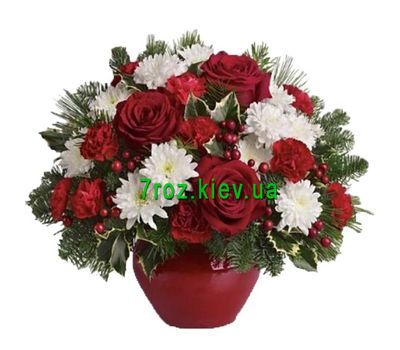 """New Years composition"" in the online flower shop 7roz.kiev.ua"